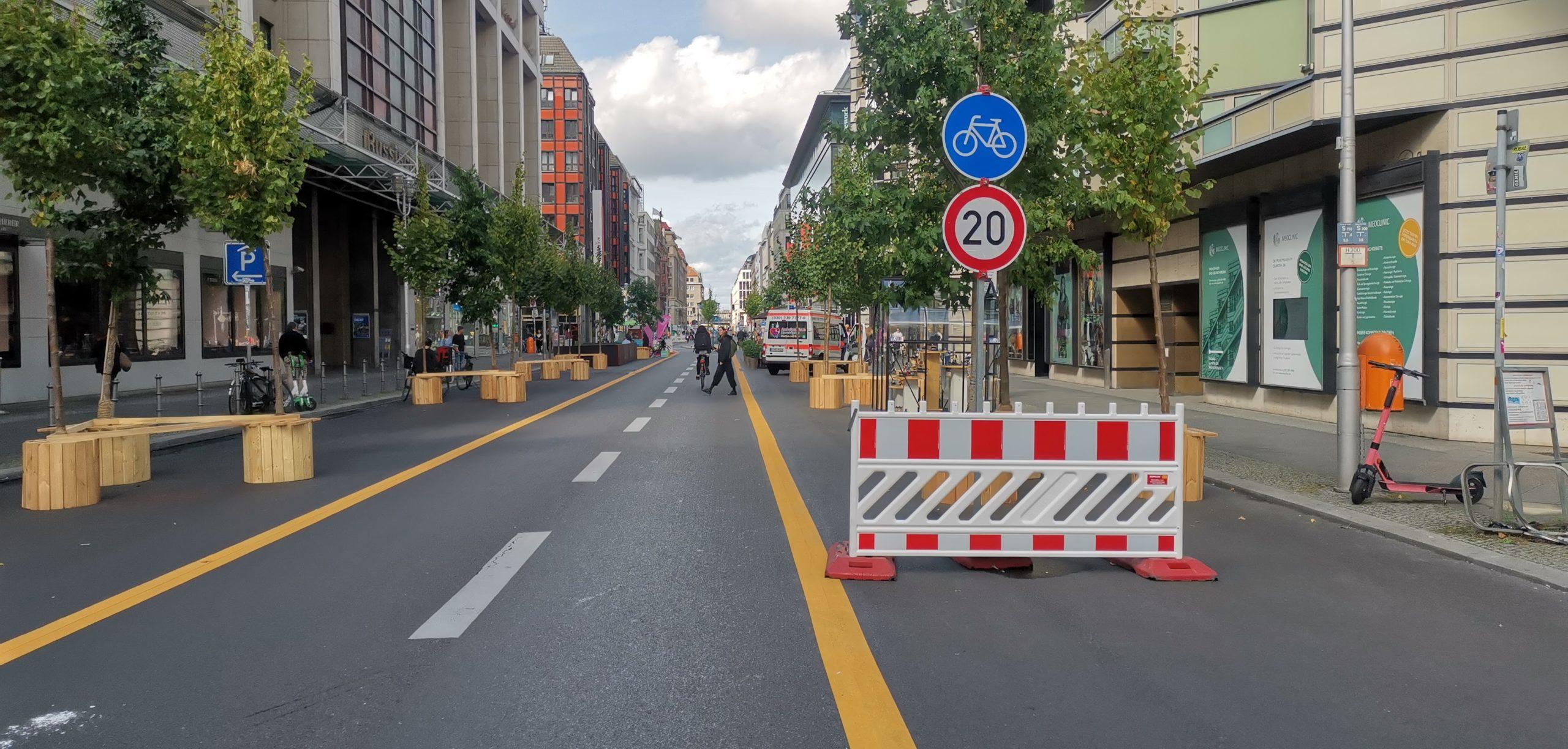 Fahrradzone Firedrichstraße
