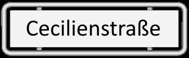 Straßenschild Cecilienstraße