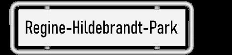 Straßenschild Regine-Hildebrandt-Park