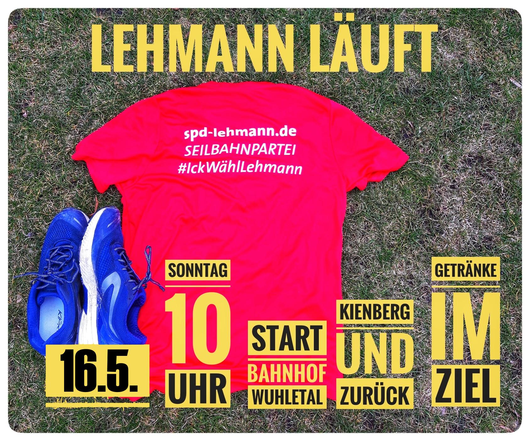 Plakat #LehmannLäuft